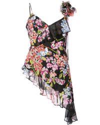 Josie Natori - Hokkaido Blossom Embroidered Blouse - Lyst