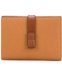 Loewe Foldover Strap Wallet - Brown