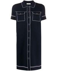 Sandro Robe-chemise courte - Bleu