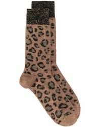 Versace - レオパード 靴下 - Lyst