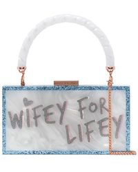 Sophia Webster Cleo Wifey For Lifey クラッチバッグ - ブルー
