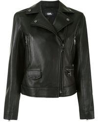 Karl Lagerfeld Байкерская Куртка Karl Legend - Черный