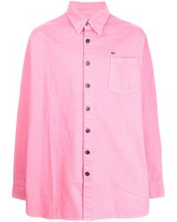 Raf Simons ポインテッドカラー シャツ - ピンク