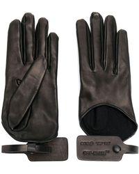 Off-White c/o Virgil Abloh Tag Leather Gloves - Black