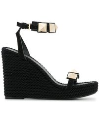 Valentino - Wedge Stud Sandals - Lyst