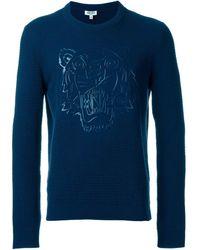 KENZO 'tiger' Sweater - Blue