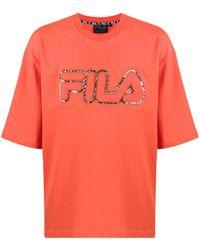 Fila ロゴ Tシャツ - オレンジ