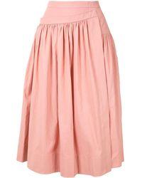 Rochas ギャザー スカート - ピンク