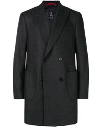 Fay Double-breasted Coat - Grey