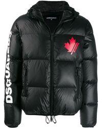 DSquared² Куртка-пуховик С Принтом - Черный