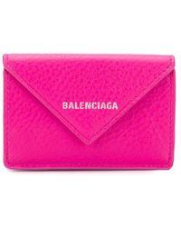 Balenciaga ペーパー ミニウォレット - ピンク