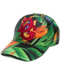 Dolce & Gabbana Palm Print Baseball Cap - Green