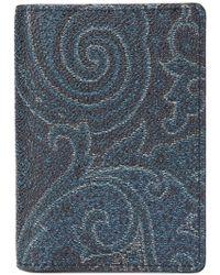 Etro - Paisley Print Card Holder - Lyst