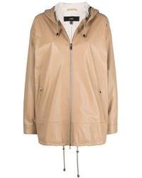 Arma Lambskin Hooded Jacket - Natural