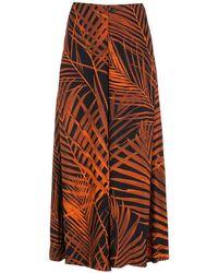 Osklen Pantalones Palm Leaf cruzados - Naranja