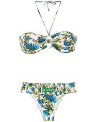 Amir Slama Printed Bikini - Wit