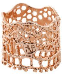 Aurelie Bidermann - Vintage Lace Ring/goldtone - Lyst