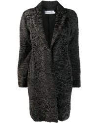 Dior Pre-owned Textured Midi Coat - Brown