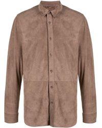 DESA NINETEENSEVENTYTWO スエード シャツジャケット - ブラウン