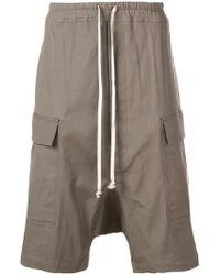 Rick Owens - Pantalones cortos estilo cargo - Lyst