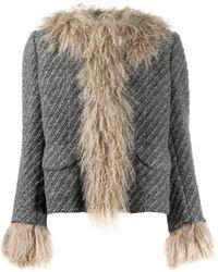 Dolce & Gabbana Куртка С Отделкой Из Овчины - Серый