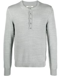Zadig & Voltaire Tunis Rib-trimmed Buttoned Sweater - Grey