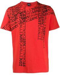 Just Cavalli ロゴ Tシャツ - レッド