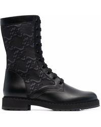 Fendi Ботинки С Тисненым Логотипом - Черный
