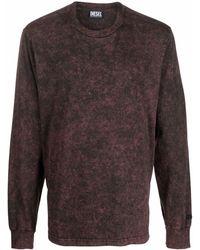 DIESEL マーブルパターン Tシャツ - ブラック