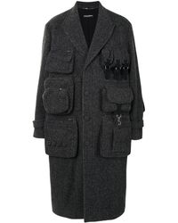 Dolce & Gabbana Длинное Пальто Строгого Кроя - Серый