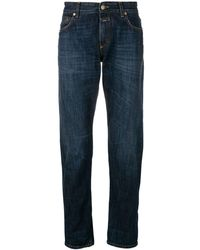 Closed Faded Straight Leg Jeans - Blauw