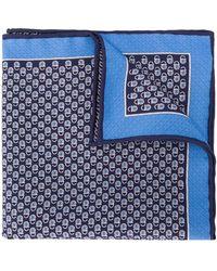 Ferragamo Платок С Логотипом - Синий