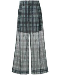 Toga Pulla - Checkered Print Sheer Wide Leg Trousers - Lyst