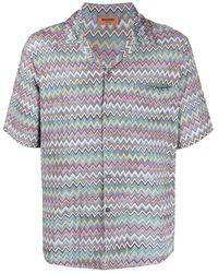 Missoni ジグザグ ショートスリーブシャツ - ブルー
