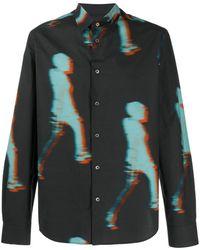 Paul Smith Hemd mit grafischem Print - Blau
