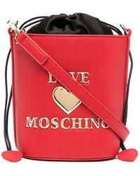 Love Moschino Сумка-ведро С Логотипом - Красный