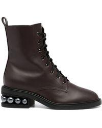 Nicholas Kirkwood Casati Combat Boots - ブラウン