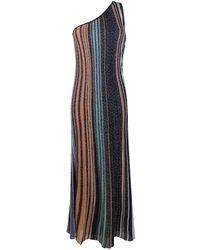 Missoni One-shoulder Striped Dress - Black