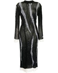 Mrz Sheer Midi Dress - Black