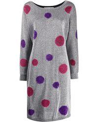 Dior Robe en maille métallisée à pois - Multicolore