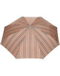 Burberry Icon Stripe Folding Umbrella - Multicolour