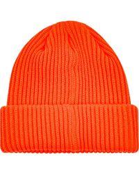 Stadium Goods Knitted Beanie Hat - Orange