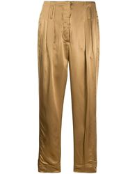 Luisa Cerano Pleated High Waisted Pants - Multicolor