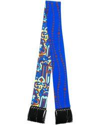 LaDoubleJ Skinny printed scarf - Blau