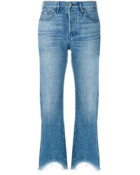 3x1 Austin クロップドジーンズ - ブルー