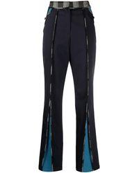 Kiko Kostadinov Checked-trim Flared Trousers - Black