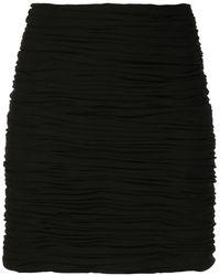 Khaite The Moira シャーリング スカート - ブラック
