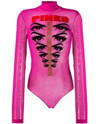 Pinko Блузка-боди Ochi Reet - Розовый