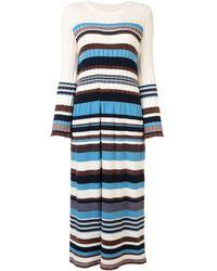 Coohem Multi-stripe Knitted Dress - Blue
