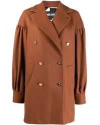 Just Cavalli Double-breasted Coat - Brown